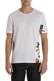 Balenciaga Micro Honeycomb and Floral Side Patch Tee - Lyst