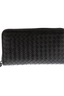 Bottega Veneta Woven Zip Around Purse - Lyst