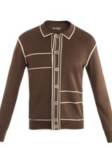 Bottega Veneta Retro Button through Cardigan - Lyst