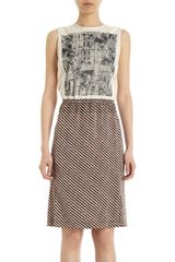 Bottega Veneta Combo Sleeveless Dress - Lyst