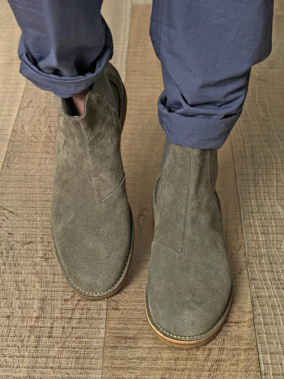 New Bottega Veneta Suede Chelsea Boots In Gray For Men  Lyst