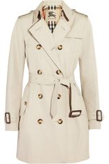 Burberry Mid-length Gabardine Trench Coat - Lyst