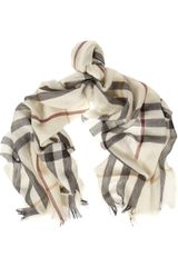 Burberry Shoes & Accessories Checked Merino Wool and Cashmereblend Scarf - Lyst