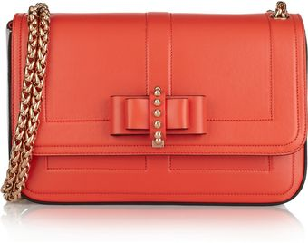 Christian Louboutin Small Bow Embellished Leather Shoulder Bag - Lyst