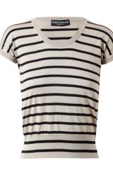 Dolce & Gabbana Striped Silk Knit - Lyst
