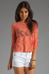 Dolce Vita Deidra Raised Lace Blouse - Lyst