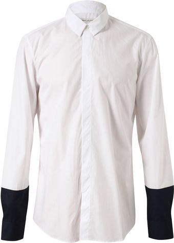 Dries Van Noten Cutter Cotton Shirt with Contrasting Cuffs - Lyst