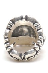 Duffy Sterling Silver Ornate Skull Ring in Silver - Lyst