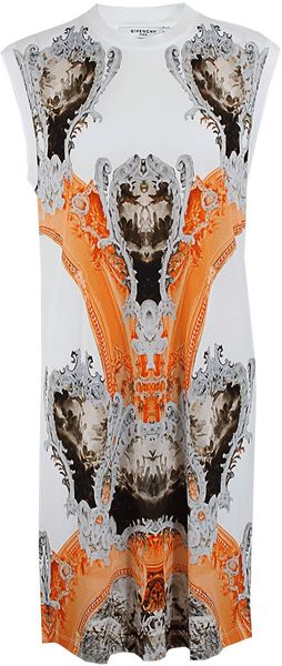Givenchy Sleeveless Baroque-Print Jersey Dress - Lyst