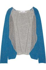 Helmut Lang Twotone Cotton Blend Sweater - Lyst