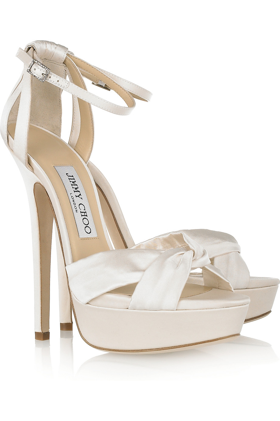 8f069907fa85 ... switzerland jimmy choo fairy satin platform sandals in white lyst a8792  37dd6