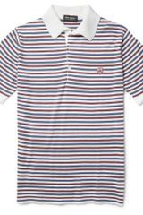 John Smedley Motson Striped Sea Island Cotton Polo Shirt - Lyst
