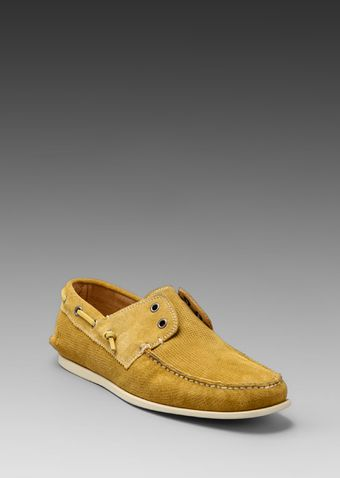 John Varvatos Schooner Boat Shoe in Scotch - Lyst