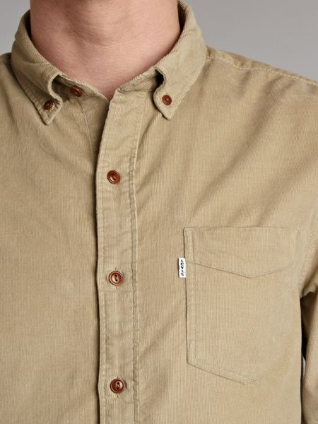 Levi S One Pocket Cord Shirt In Khaki For Men Lyst
