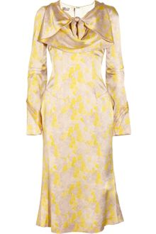 L'Wren Scott Printed Textured Silk Dress - Lyst