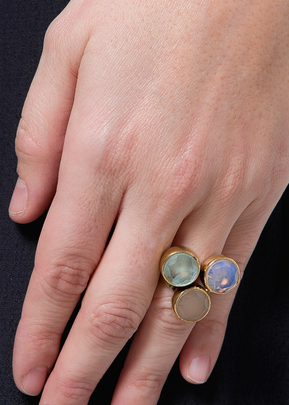 Lyst - Mango Touch Three Stones Ring in Blue