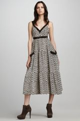 Marc By Marc Jacobs Zora Striped Midi Dress - Lyst