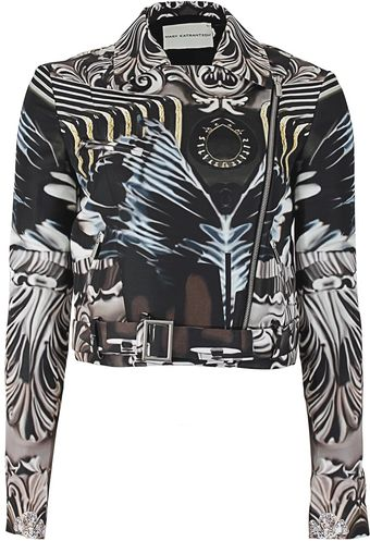 Mary Katrantzou Faille Nebraska Biker Jacket - Lyst
