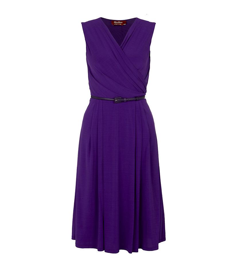 Max mara studio Vicino Dress in Purple
