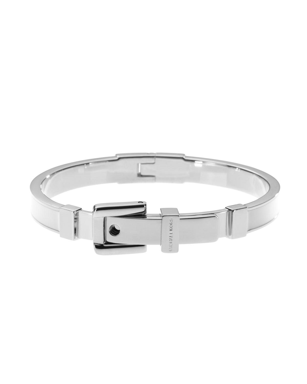 Lyst Michael Kors Buckle Enamel Bracelet In Metallic