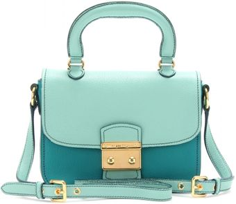 Miu Miu Twotone Leather Handbag - Lyst
