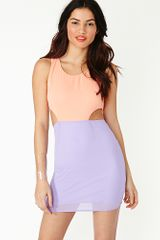 Nasty Gal Cutout Dress Fizz - Lyst