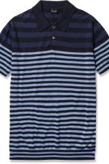 PS by Paul Smith Striped Cotton Polo Shirt - Lyst