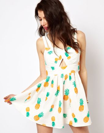 Reverse Sun Dress in Pineapple Print - Lyst