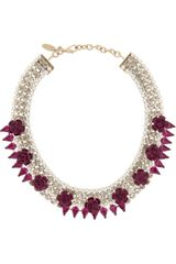 Roberto Cavalli Goldplated Swarovski Crystal Necklace - Lyst