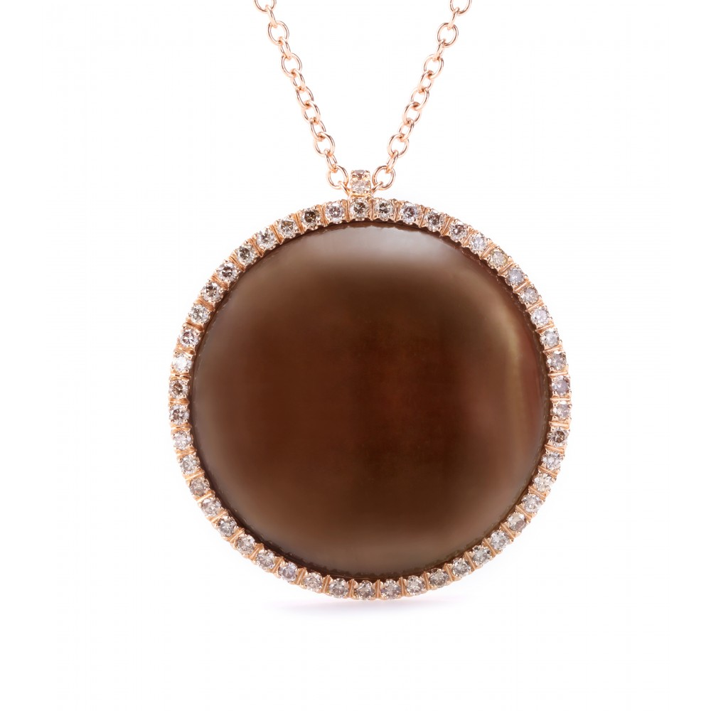 Lyst Roberto Marroni 18kt Rose Gold Surround Necklace