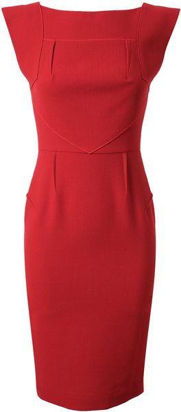 Roland Mouret Watson Stretch Crepe Wool Dress - Lyst