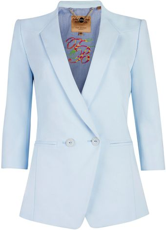 Ted Baker Meeda Double Breasted Blazer - Lyst