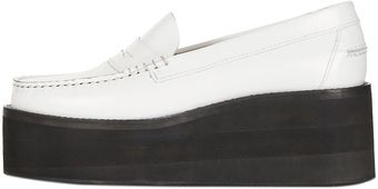 Topshop Leather Flatform Loafers By Jw Anderson For Topshop - Lyst