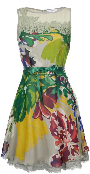 Almost Famous Big Flower Print Dress - Lyst
