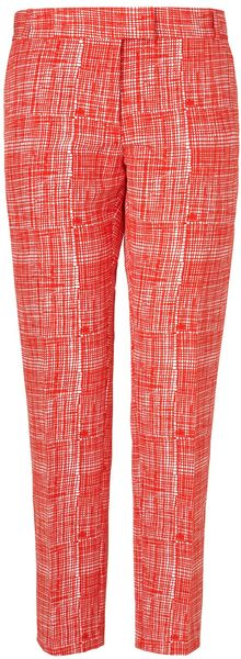 Boutique By Jaeger Summer Check Trousers - Lyst