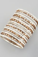 Chamak By Priya Kakkar Set Of 18 Multi Crystal Bangles - Lyst