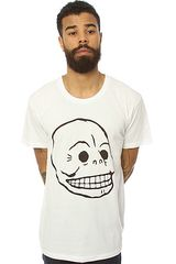 Cheap Monday The Bruce Skull Tee in White - Lyst