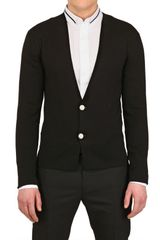 Dior Homme Double Breasted Knit Cardigan - Lyst