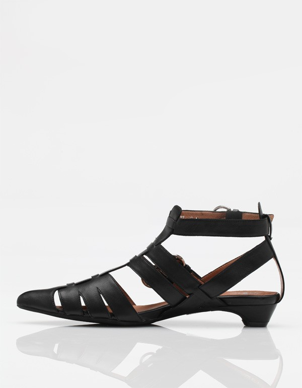 Jeffrey Campbell Flat Sandals In Black Lyst
