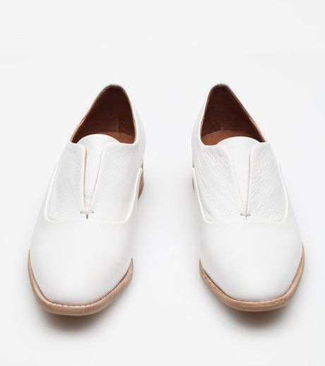 Jeffrey Campbell Leather Oxford Shoes In White (white ...