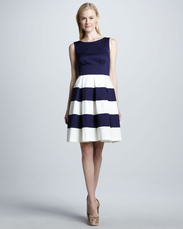 f95f1b008282 Kate Spade Celina Stripeskirt Dress in Blue - Lyst