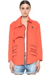 Kelly Wearstler Ornamented Jacket in Coral - Lyst