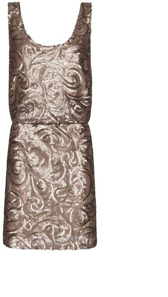 Mango Sequined Dress - Lyst
