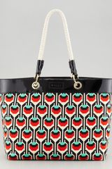 Milly Geometricprint Canvas Tote - Lyst