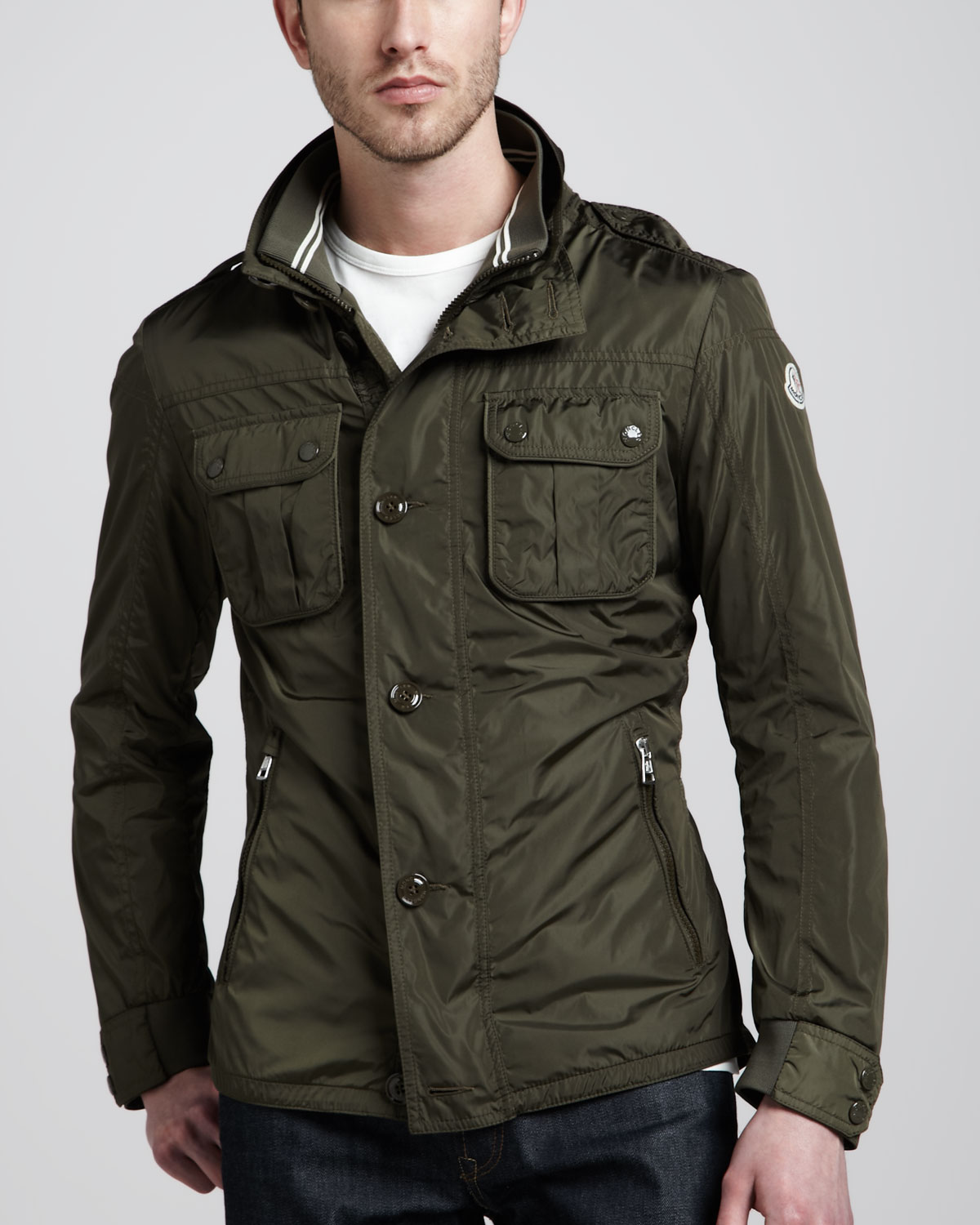 Lyst Moncler Military Field Jacket In Green For Men