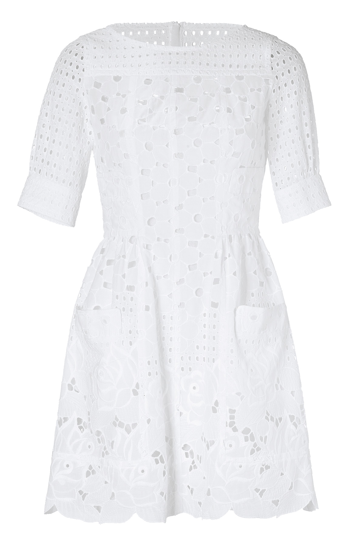Moschino White Cotton Dress in White  Lyst
