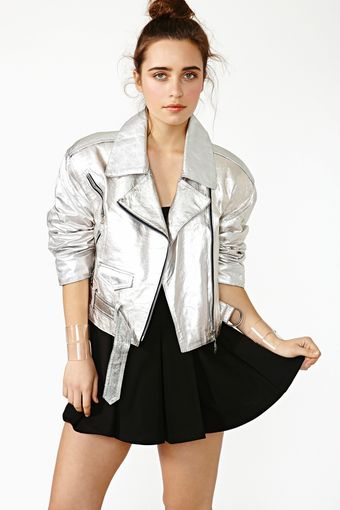 Nasty Gal Burn Bright Leather Moto - Lyst
