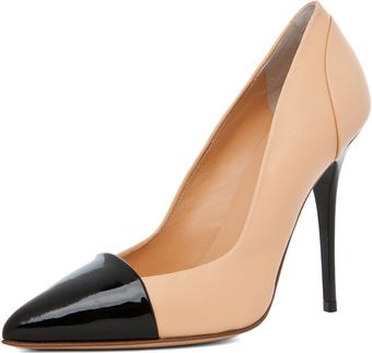 Proenza Schouler Leather Pump in Nude Black - Lyst