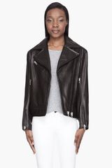 Rag & Bone Black Leather Monaco Biker Jacket - Lyst
