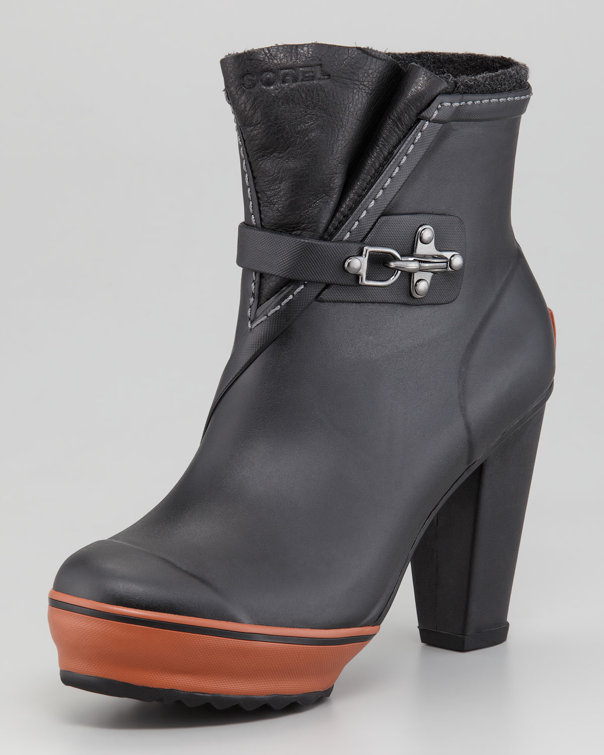 Sorel Medina Highheel Rain Boot in Black | Lyst